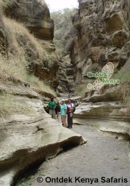 Kenya Walking holidays: in the Hell's Gate Gorge, Ol Njorowa Gorge
