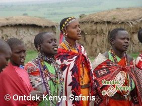 Kenya people Masai women, Masai Mara