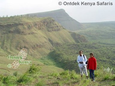 Kenya family tours: walking in the Menengai Crater