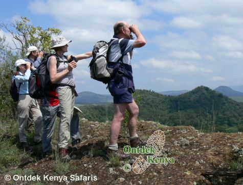 Bird watching tour in the Crater Lake game sanctuary, Kenya