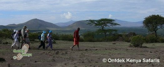 Walking clubs on a hike near Lake Elementaita, Kenya