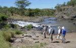 Africa walking safaris and holidays: Malewa River, Kenya.