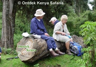 Picnic on the Sirimon Route, Mt. Kenya
