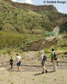 wandeltrektocht in de hell's gate kloof canyon
